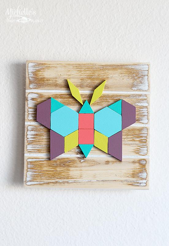 Cute Geometric Butterfly Wall Art