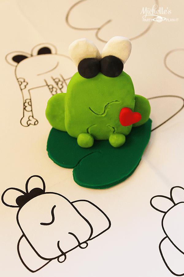 A Hoppy Spring Frog Sculpey Clay