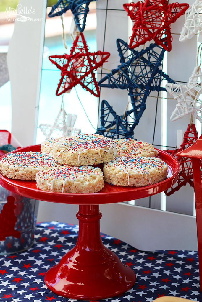 Easy Patriotic Cereal Treats