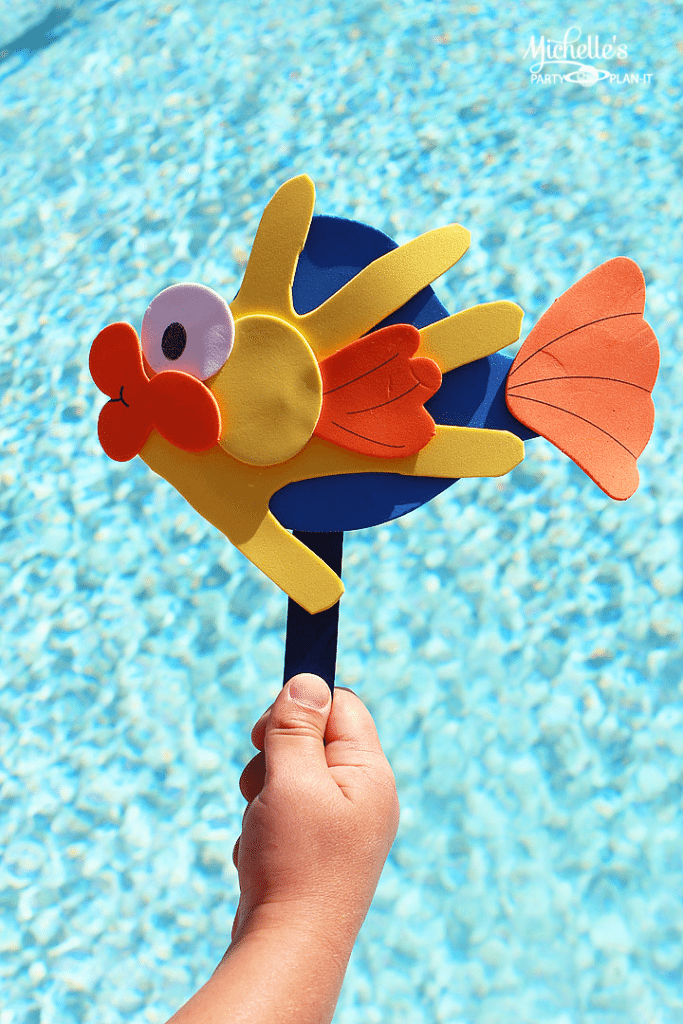 Fish Hand print Activity for Busy Hands