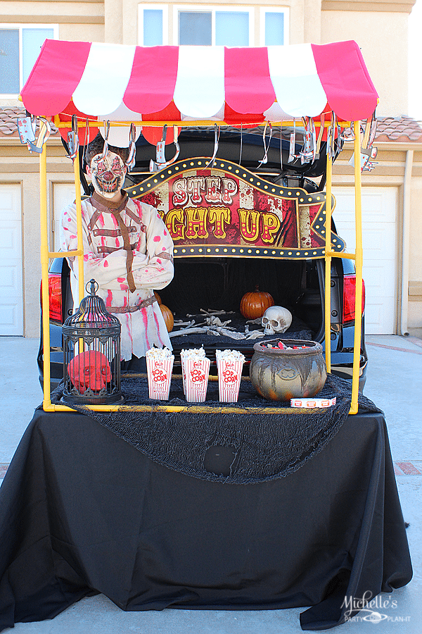 Big Top of Terror Trunk or Treat Idea