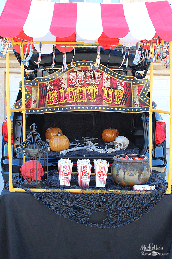 Big Top Terror Trunk Or Treat Ideas Michelle S Party Plan It