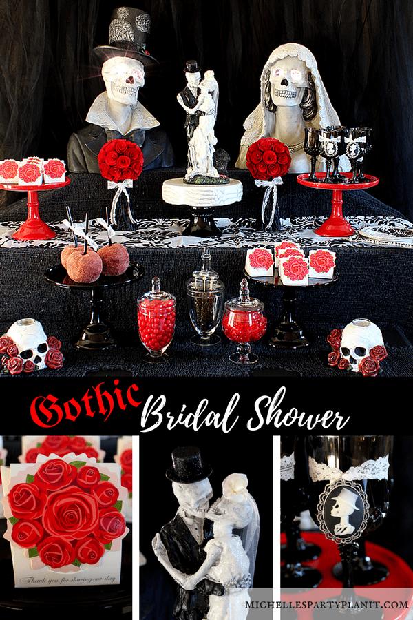 Till Death Do Us Part Gothic Bridal Shower