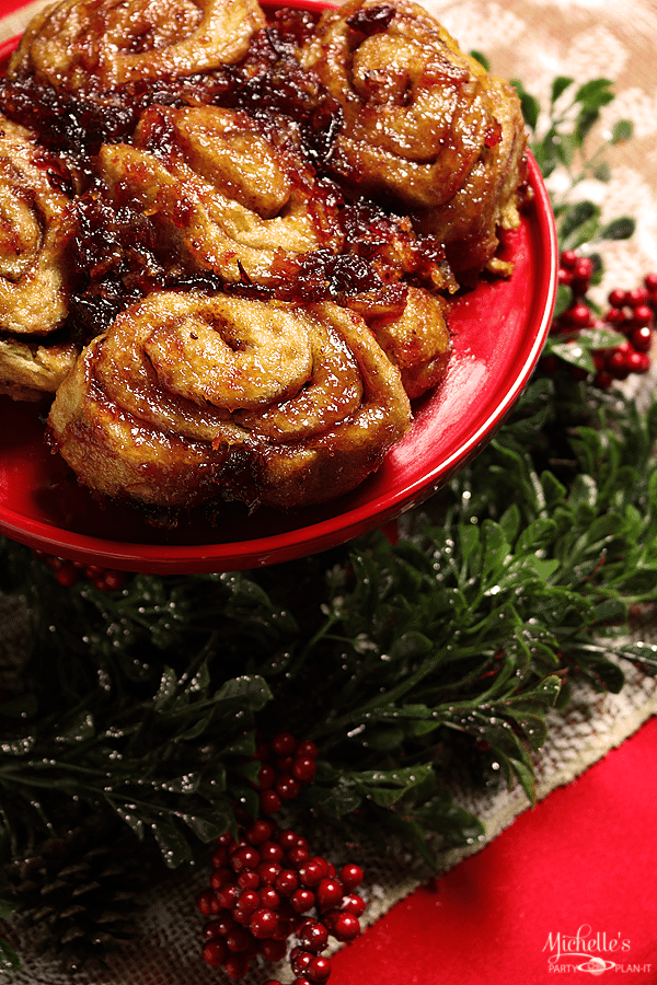 Cranberry Orange Cinnamon Rolls Recipe by Michelle Stewart