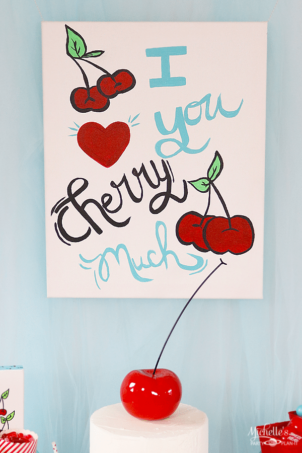 I love you cherry much painting