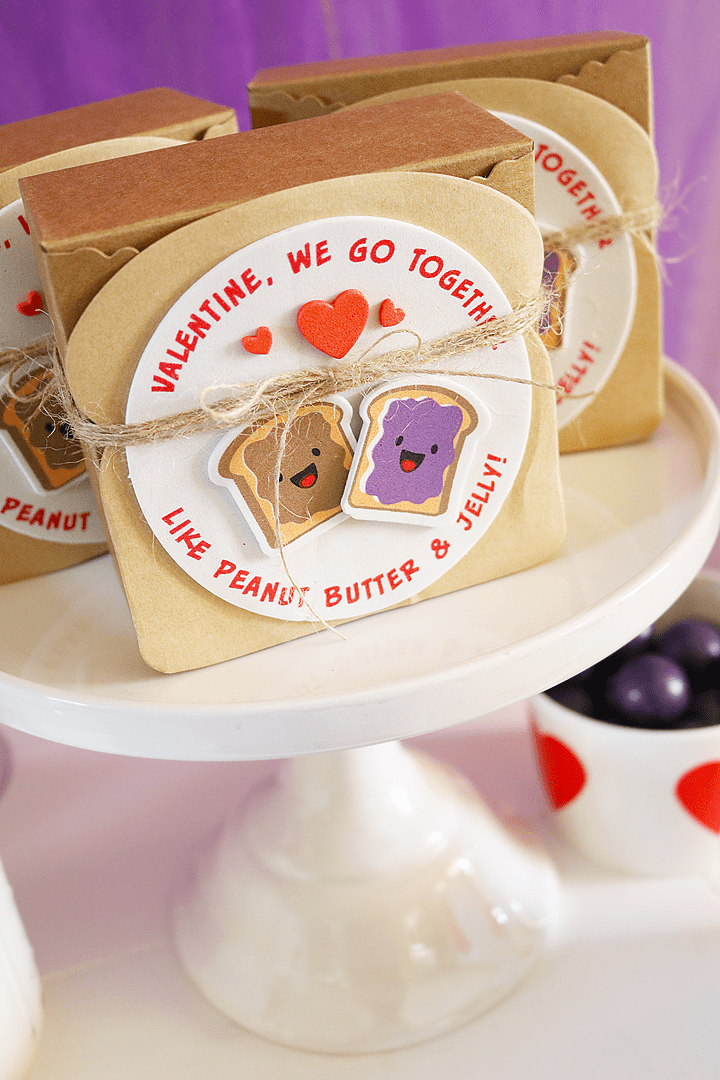 We Go Together Like PB & J Valentine's Day Party Favor