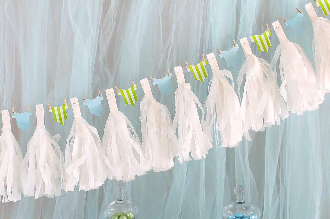 It's A Boy Baby Shower Garland