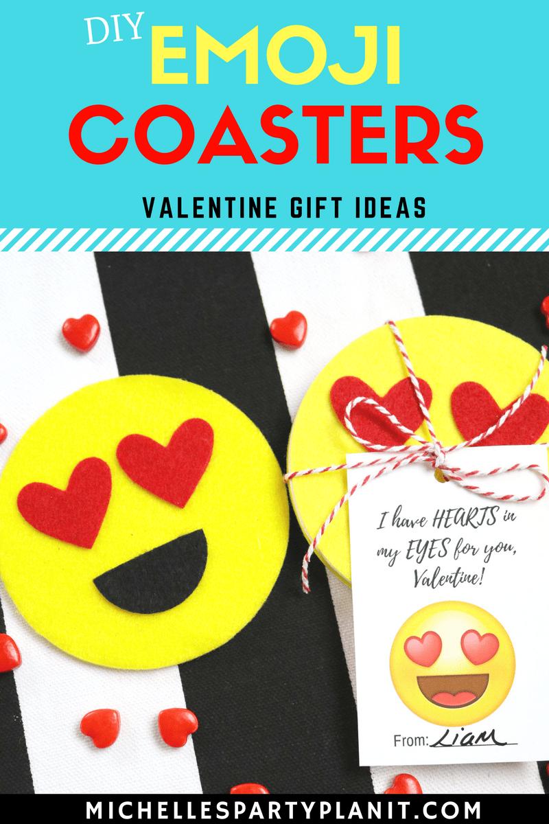 Emoji Coaster Valentines