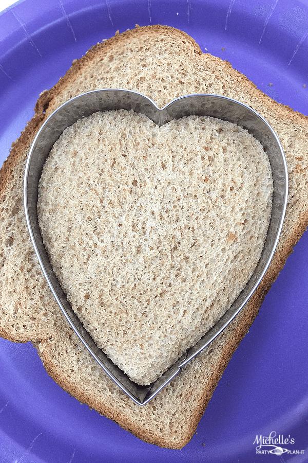 Heart PB & J Sandwiches