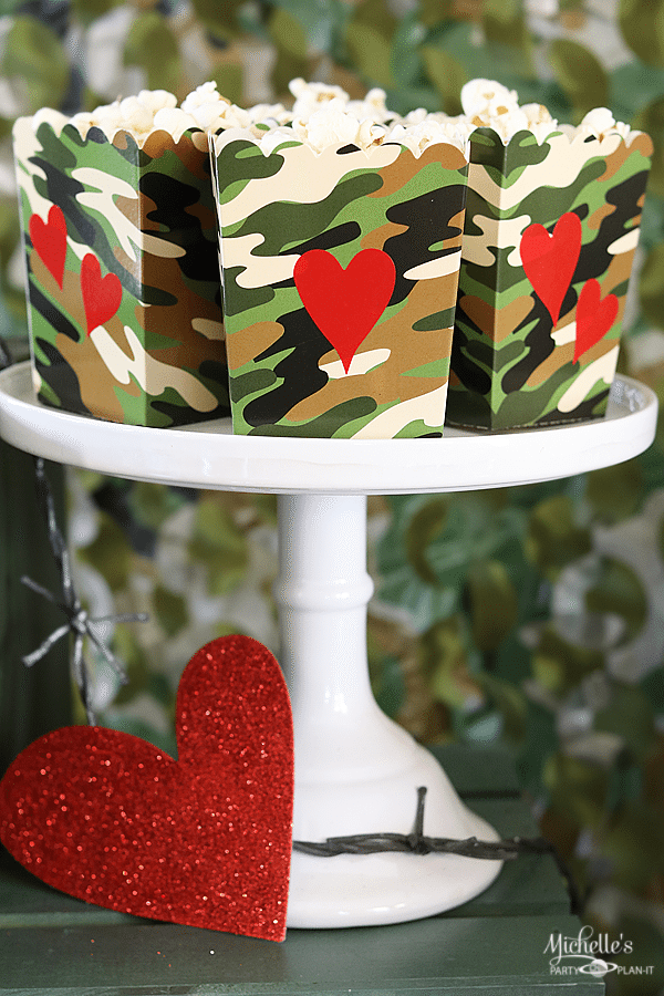 Love is a Battlefield Popcorn Boxes