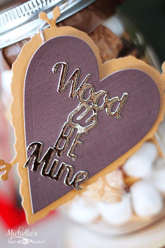 Wood U Be Mine Valentine Gift Tag