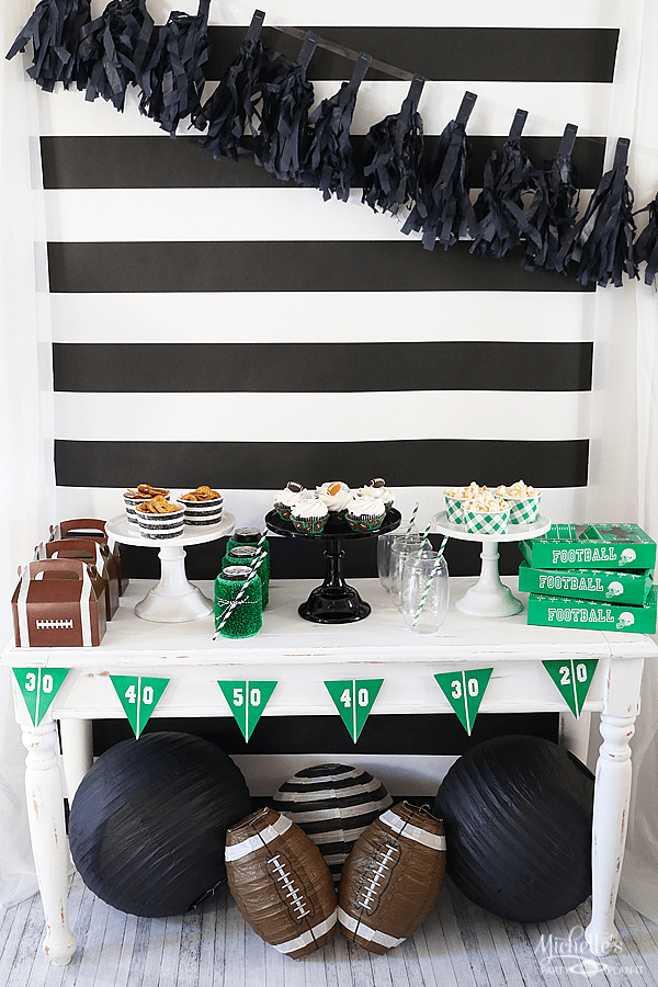Football Snack Table Ideas