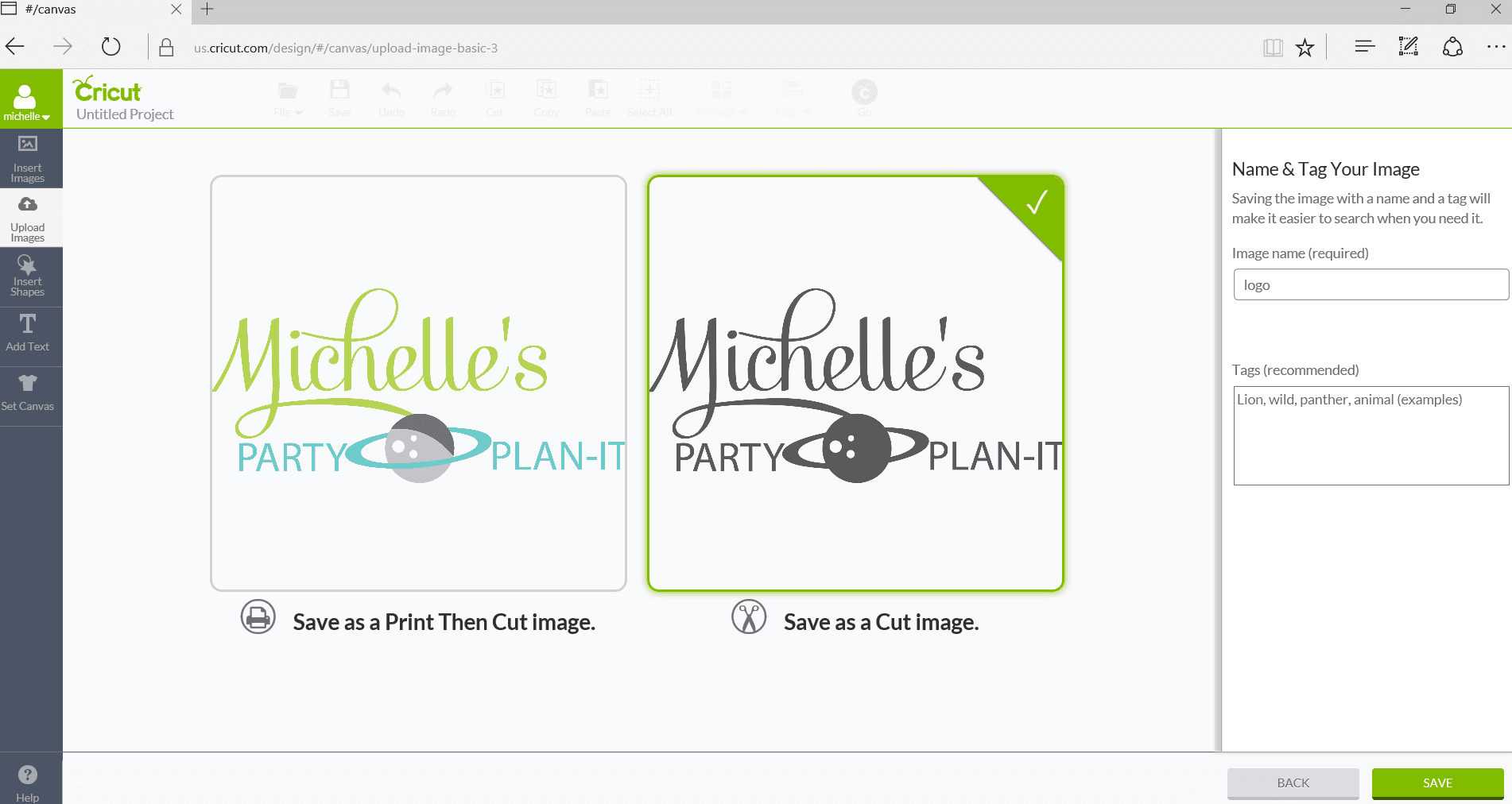 How to Upload Your Own Images with Cricut Explore Air 2 - Print and cut or cut only