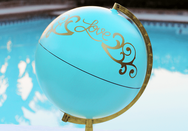DIY Globe Guestbook | Whip It Up Wednesday