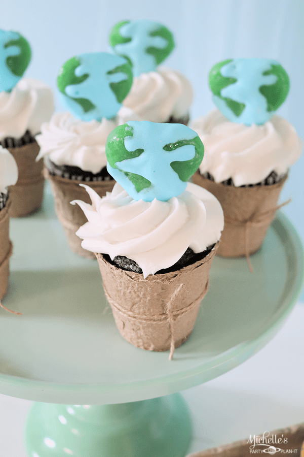Earth Day Party Ideas Cupcakes