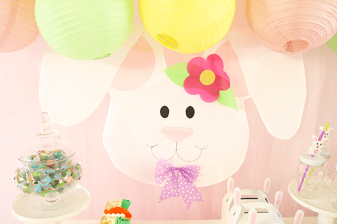 Some Bunny Loves You Easter Party Backdrop