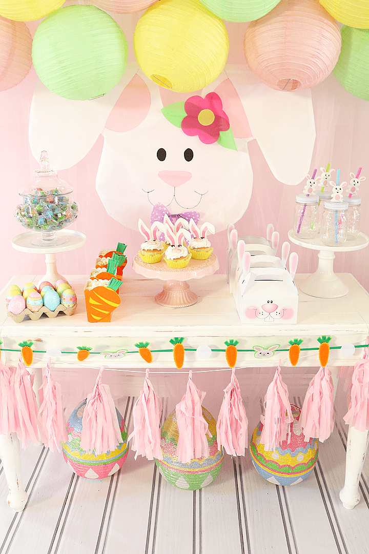 Some Bunny Loves You Easter Party Table