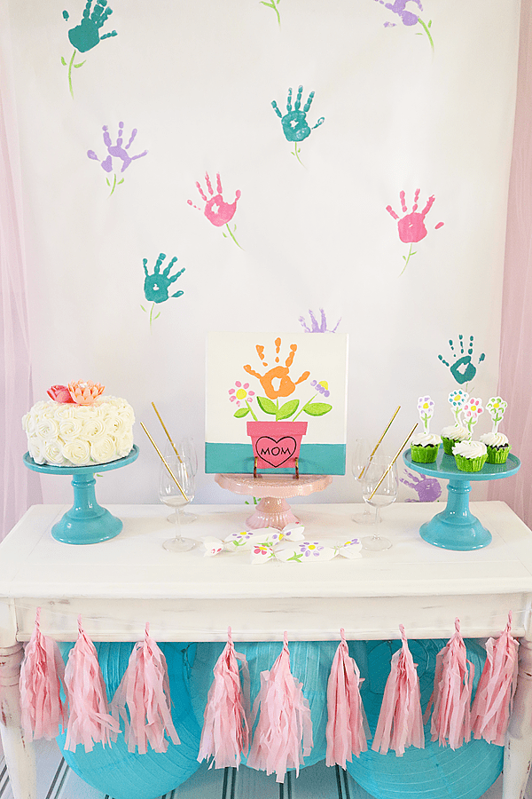 Mommy and Me Painting Party Table Set Up