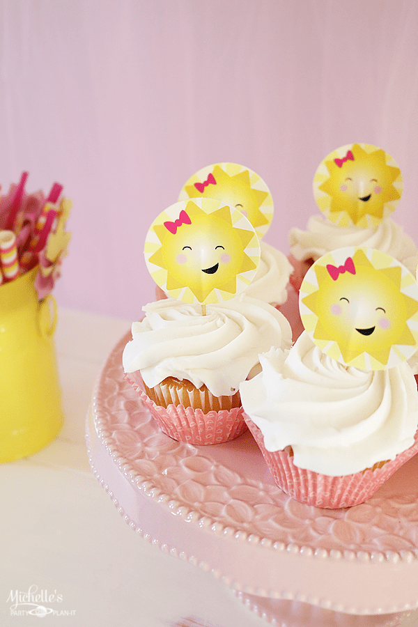 You Are My Sunshine Playdate Cupcakes