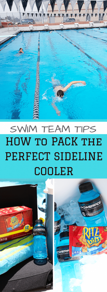 Swim Team Tips - How to pack the perfect sideline cooler