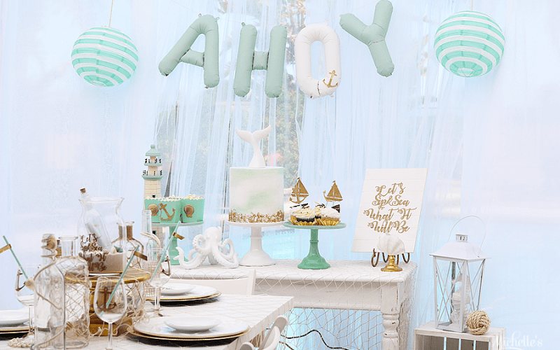 Let's Sip & Sea What It Will Be | Gender Reveal Party With Cricut