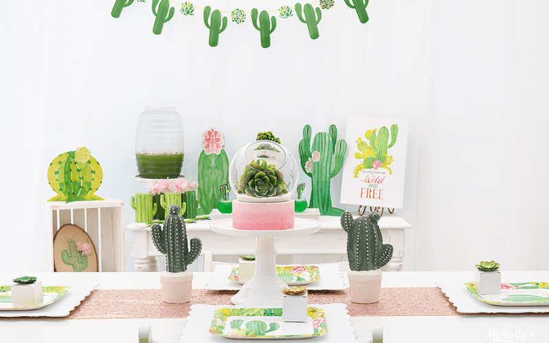 Cactus party table