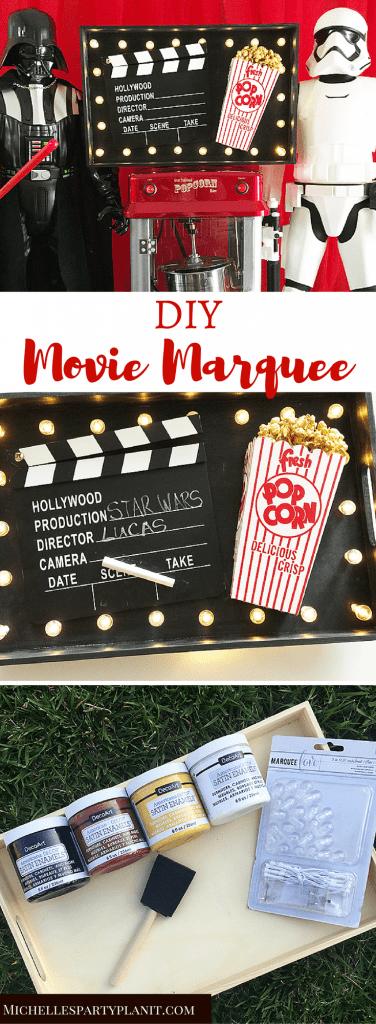 DIY Movie Marquee Sign