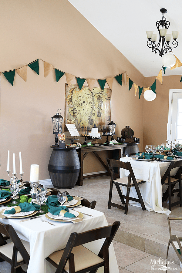 Lord of the Rings Graduation Party tables