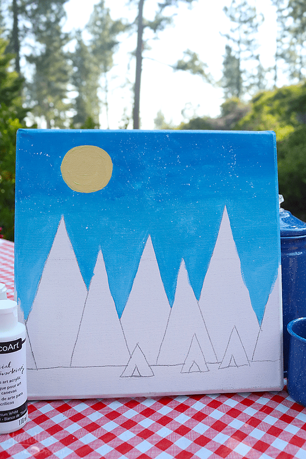 Painting with Social Artwork - Camp Activity Ideas