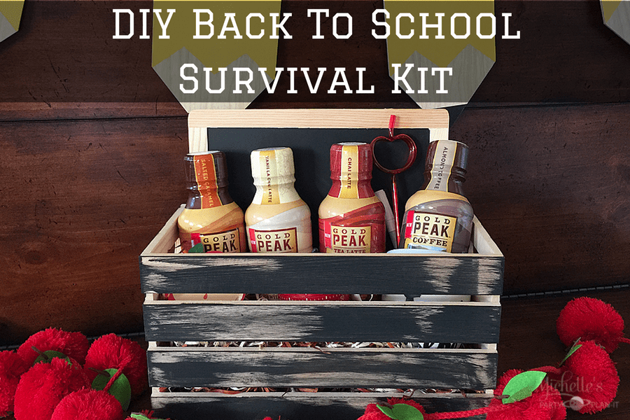 DIY Back to School Survival Kit With Gold Peak® Tea Lattes and Coffee Drinks