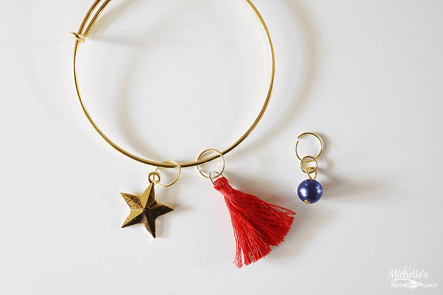Wonder Woman Charm Bracelet Favors