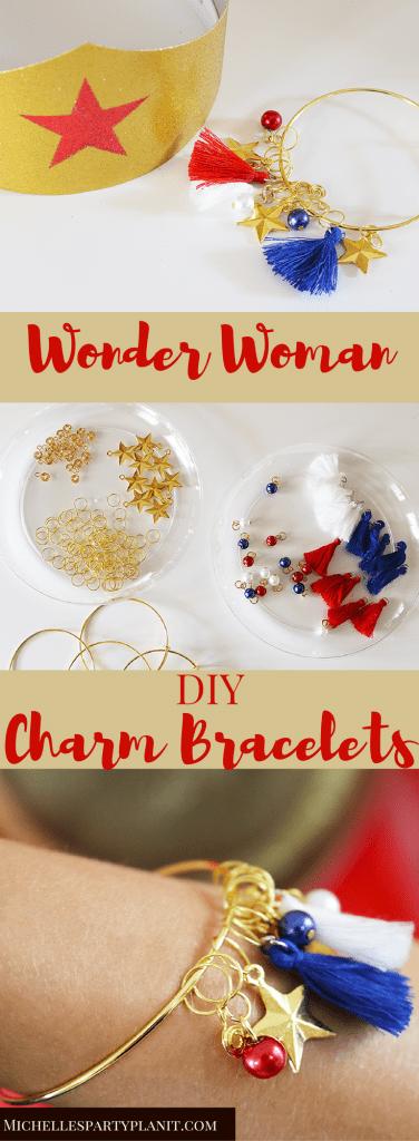 DIY Wonder Woman Charm Bracelets