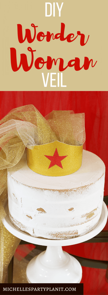 DIY Wonder Woman Veil