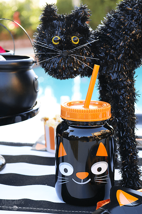 Black Cat Halloween Party Cups