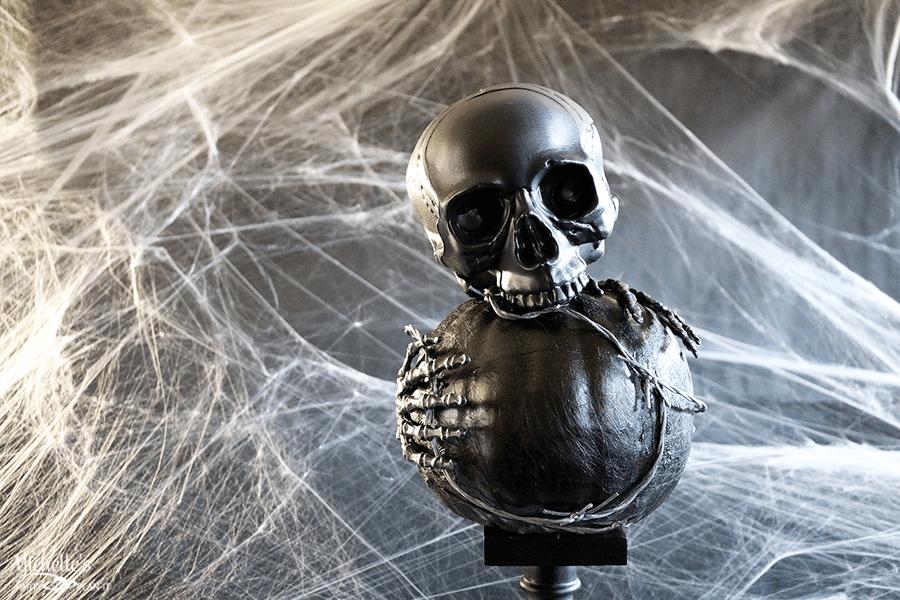 Scary DIY Pumpkin Tutorial by Michelle Stewart