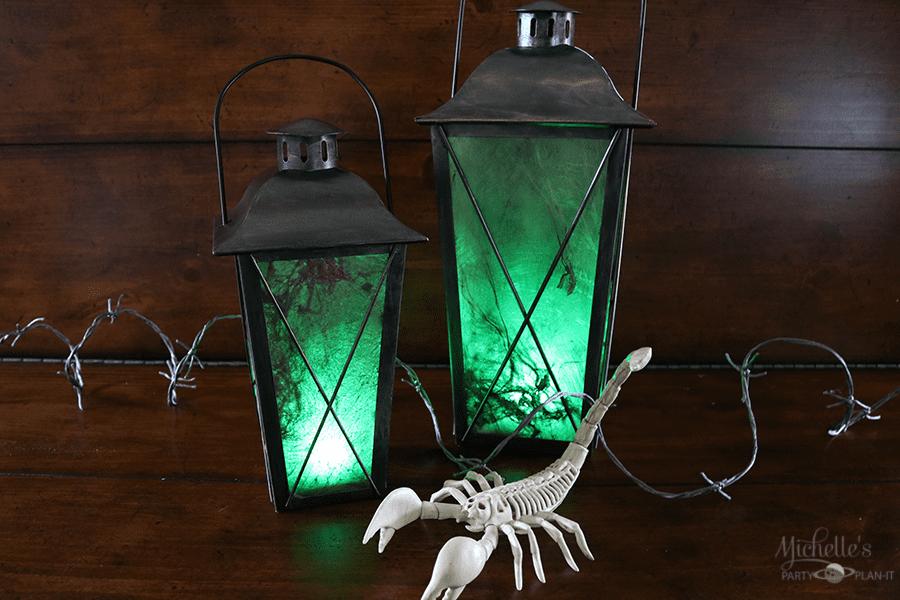 DIY Spooky Lanterns by Michelle Stewart