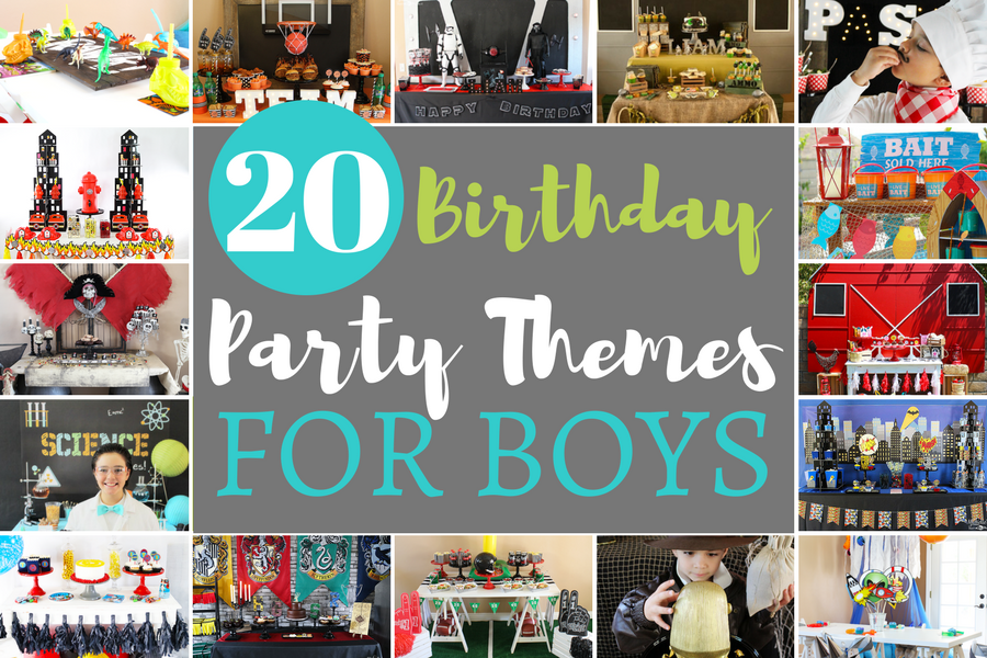 20 Birthday Party Themes for Boys Michelles Party PlanIt