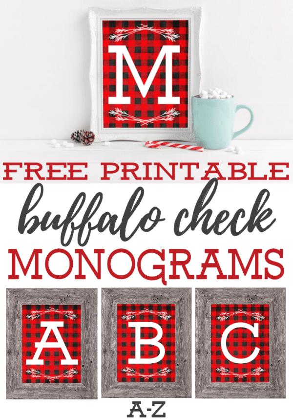 Buffalo Check Monogram
