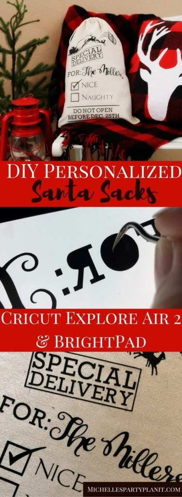 DIY Personalized Santa Sacks