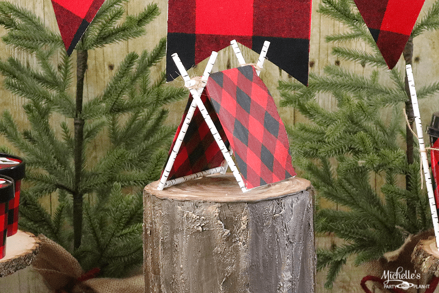 DIY Tent Cake Topper | Lumberjack Party Ideas