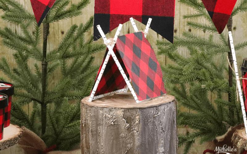 DIY Tent Cake Topper | Lumberjack Party Ideas