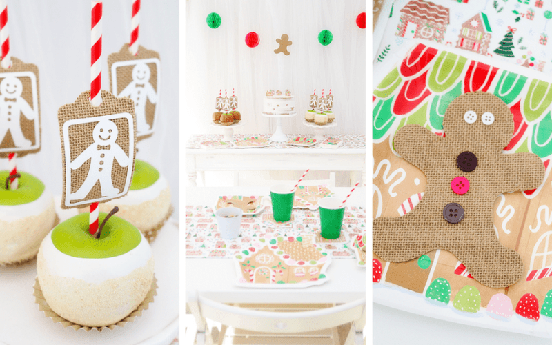 Gingerbread Christmas Party Ideas with Cricut