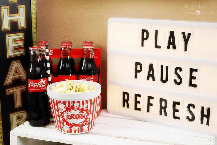 Play Pause Refresh with Coca Cola | TV Night Popcorn Bar