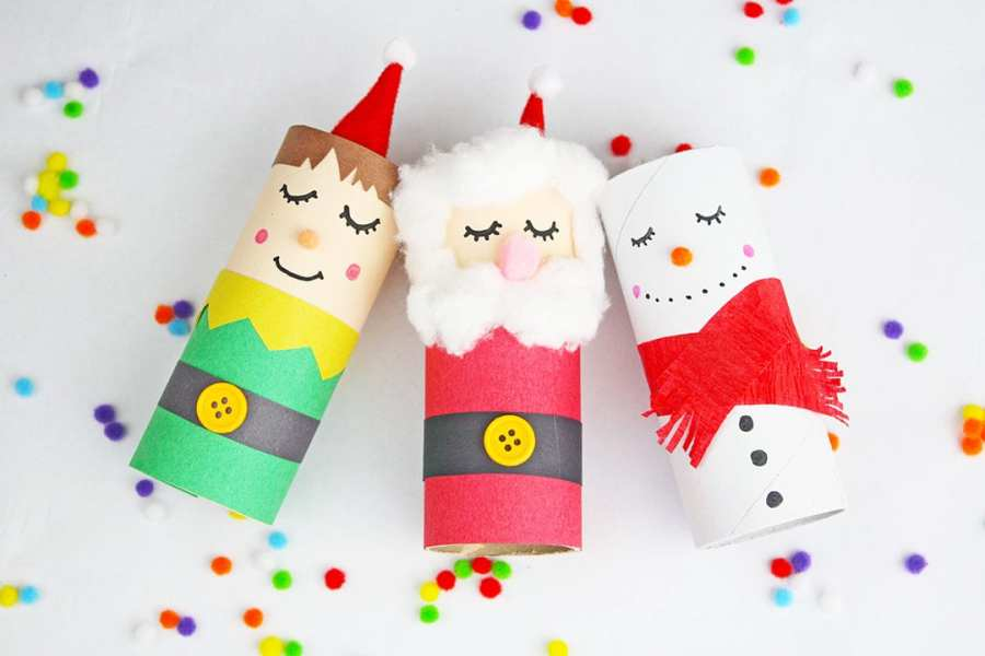 CRAFT ROLL CHRISTMAS DOLLS