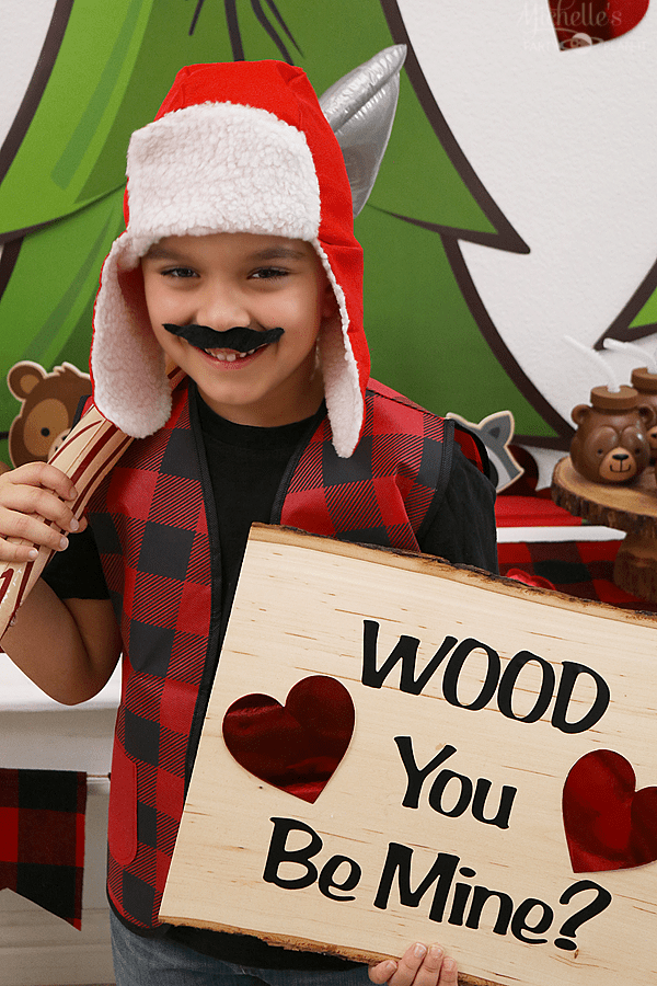 Wood you be mine Valentine's Day Party Lumberjack