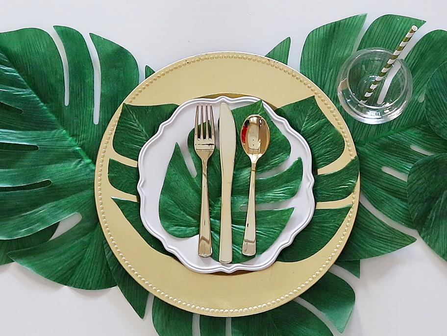 Simple Tropical Place Setting