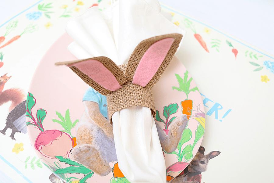 DIY Bunny Ear Napkin Rings