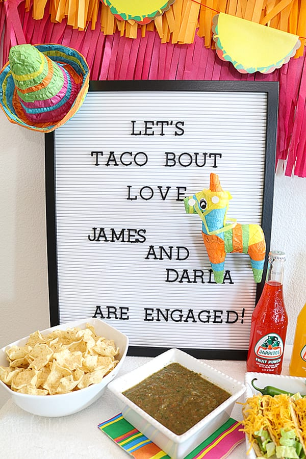 Let's Taco Bout Love Engagement Party Ideas