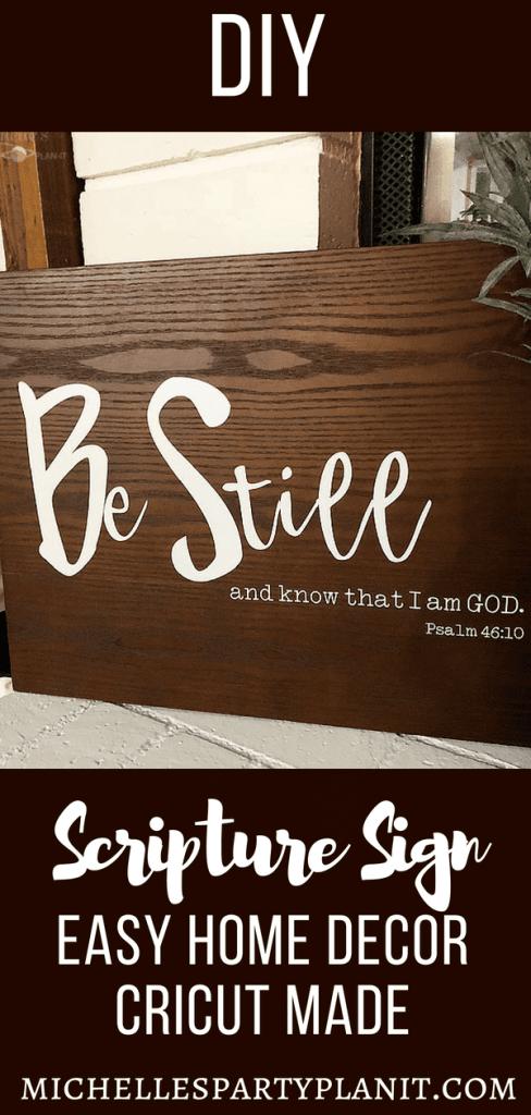 DIY Scripture Sign - Easy Home Decor #cricutmade