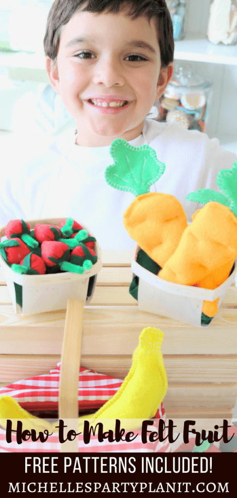 How to Make Felt Fruit & Veggies Tutorials - Free Patterns Included